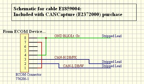 Reference schematic for the E1859004 cable